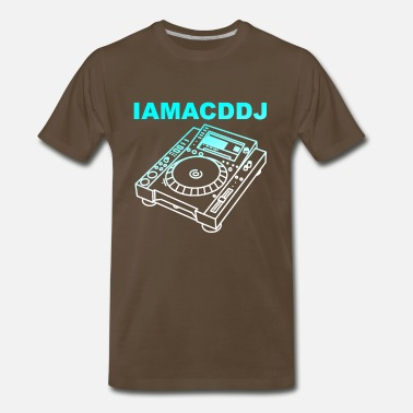 Minimal Techno I AM A CD DJ - Men's Premium T-Shirt