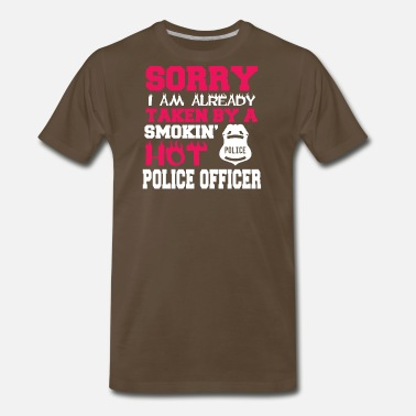 Policeman smokin hot police officer - Men's Premium T-Shirt