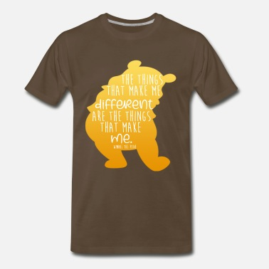 Pooh The things that make me different - cartoon saying - Men's Premium T-Shirt