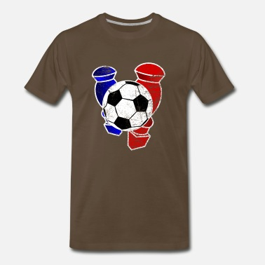 Table Soccer Vintage Table Soccer Football - Men's Premium T-Shirt