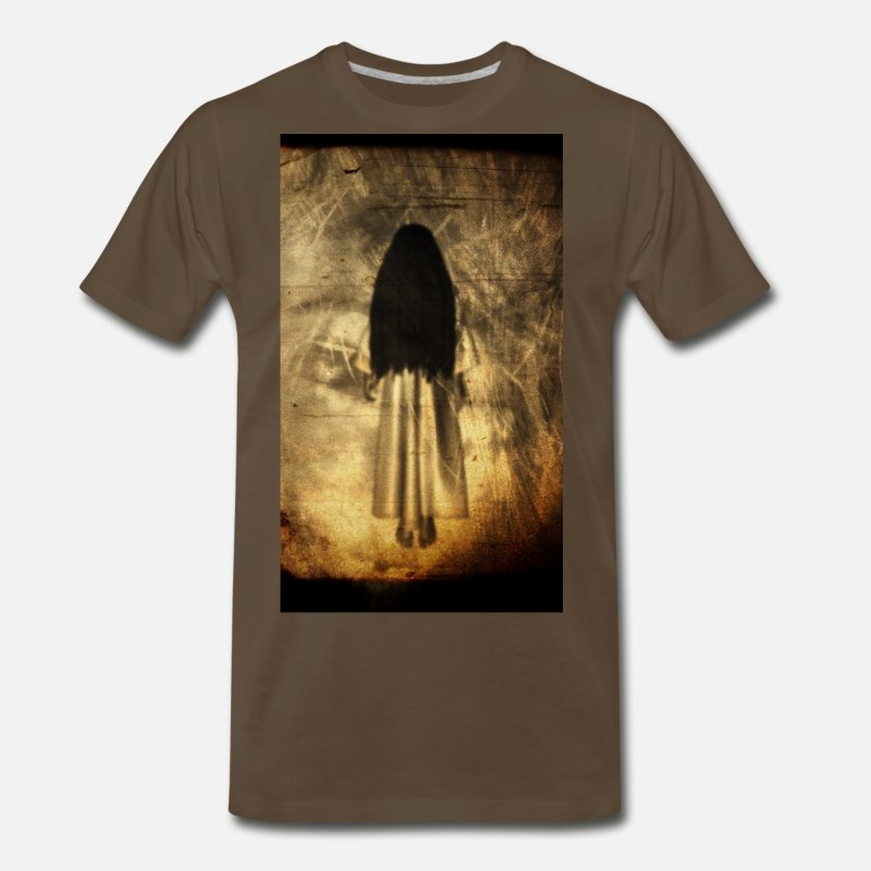 Horror T-Shirts - Yurei - Men's Premium T-Shirt noble brown