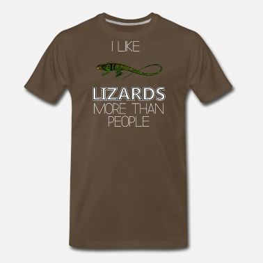 Lizard People I Like Lizards More Than People - Men's Premium T-Shirt