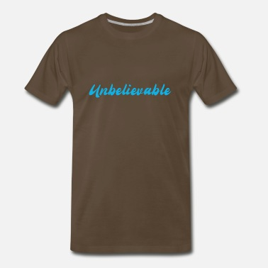 Unbelievables Unbelievable blue - Men's Premium T-Shirt