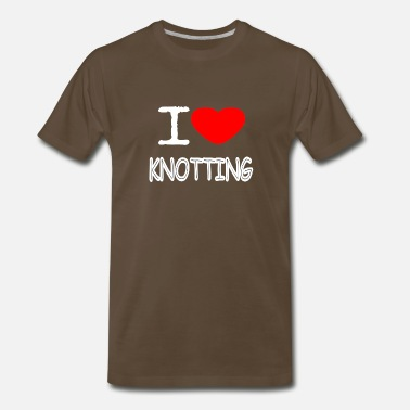 Sexy Mum I LOVE KNOTTING - Men's Premium T-Shirt