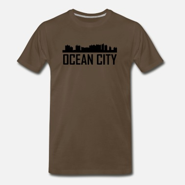Md Ocean City Maryland City Skyline - Men's Premium T-Shirt