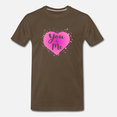 Heart Gal You and Me and abstract heart shape - Men's Premium T-Shirt