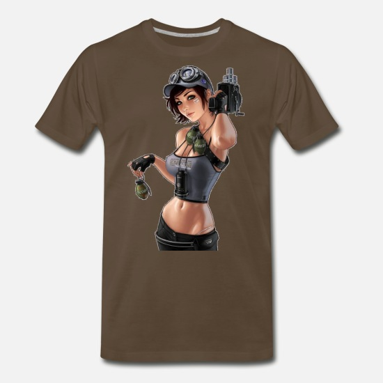 Sexy T-Shirts - Granade Girl - Men's Premium T-Shirt noble brown