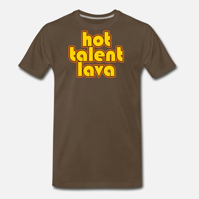 San Diego T-Shirts - Hot Talent Lava - Yellow Letters - Men's Premium T-Shirt noble brown