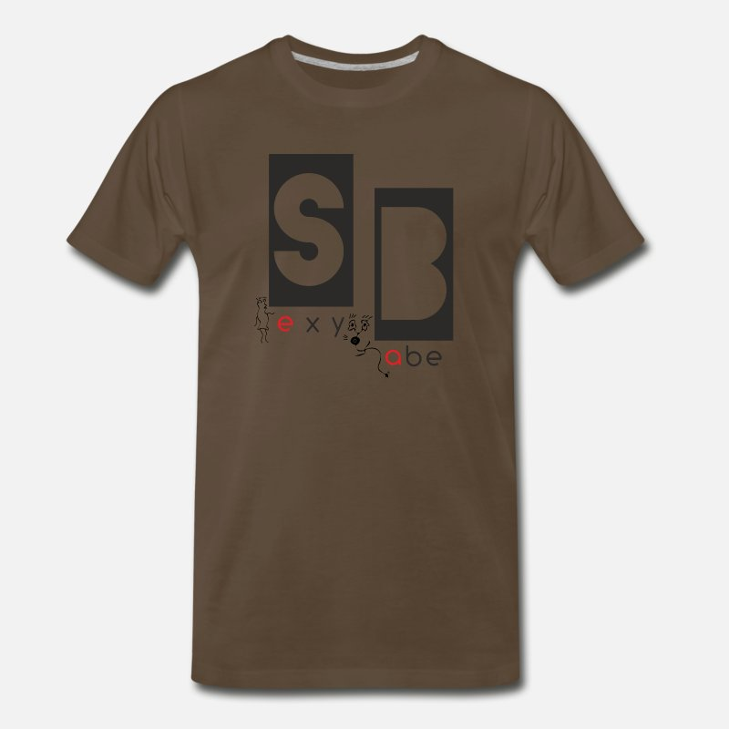 Art T-Shirts - Sexy Babe - Men's Premium T-Shirt noble brown