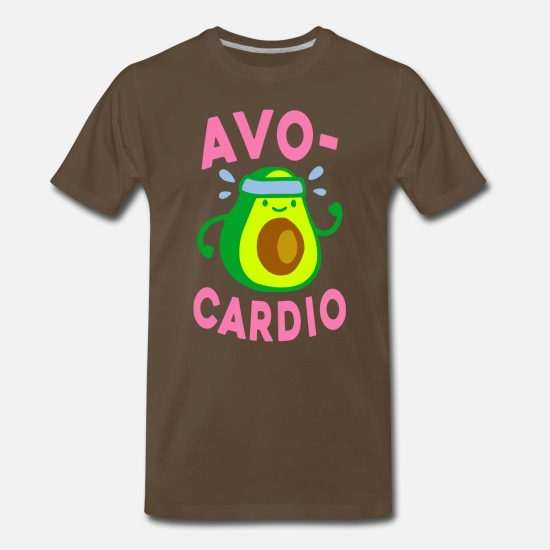 Funny T-Shirts - AVOCARDIO - Men's Premium T-Shirt noble brown