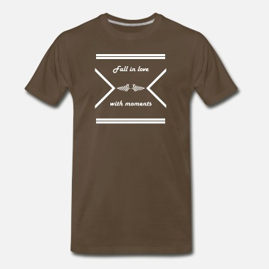 Fuck Cancer Quotes Fall in love with moments - Men's Premium T-Shirt