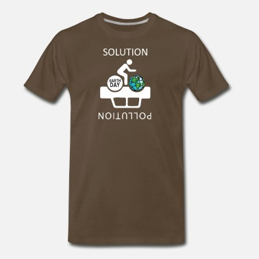Ecofriendly The Solution to Pollution is the clean energies - Men's Premium T-Shirt