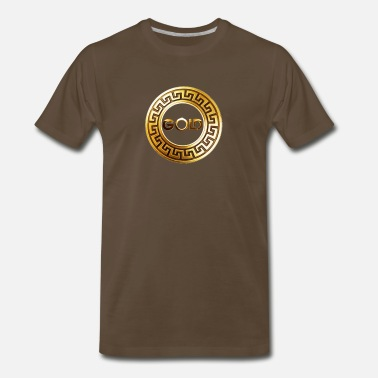 Versace gold_mixes_logo - Men's Premium T-Shirt