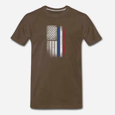 Dutch American Flag Dutch American Flag - Half Dutch Half American - Men's Premium T-Shirt