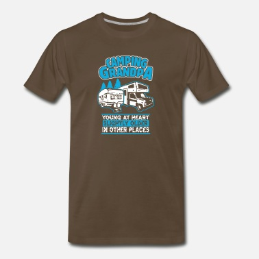 Camping Camping Grandpa Young At Heart T Shirt - Men's Premium T-Shirt