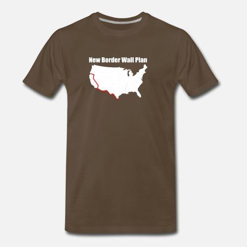 Funny Border Wall T Shirt Funny Anti Liberal T Shirt Men S Premium T