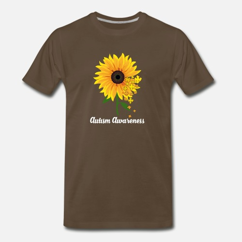 99cc47707f6 Front. Autism awareness sunflower shirt