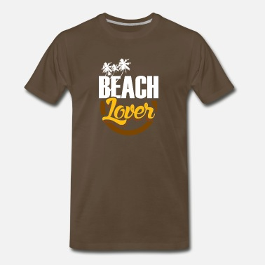 Sun Bathing Beach Lover swimming sun bathe gift - Men's Premium T-Shirt