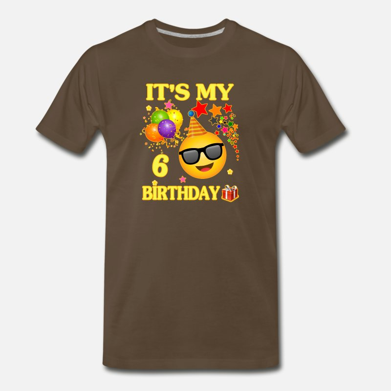 Mens Premium T ShirtIts My 6 Birthday Shirt Years Old 6th Gift