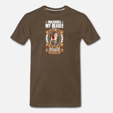 warning beagle dog shirt - Men's Premium T-Shirt