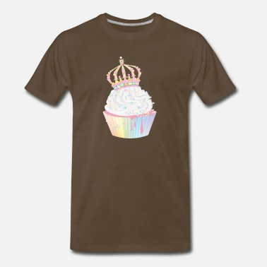 Mold sugary cupcake with candy crown - Men's Premium T-Shirt