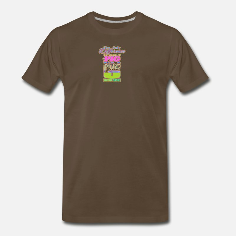 Pigeon T-Shirts - PIG AND PUG - Men's Premium T-Shirt noble brown