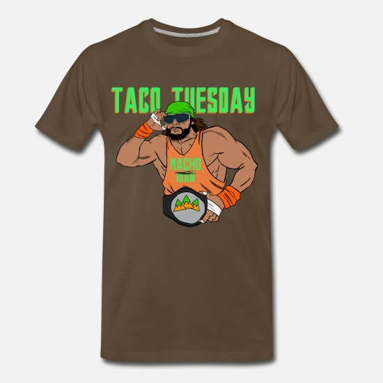 Tuesday T-Shirts - Nacho Man - Men's Premium T-Shirt noble brown