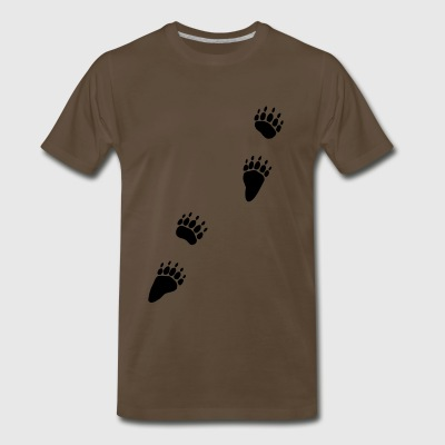 animal tracks footprint bear grizzly - Men's Premium T-Shirt