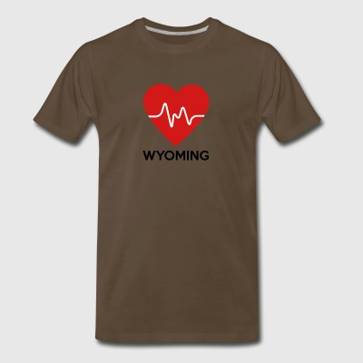 Heart Wyoming - Men's Premium T-Shirt