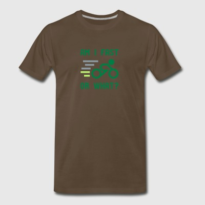 Am I fast, or what? - active wear for cycling - Men's Premium T-Shirt