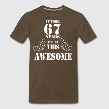 67th Birthday Get Awesome T Shirt Made in 1950 - Men's Premium T-Shirt
