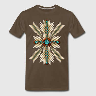 Native American Sunburst - Men's Premium T-Shirt