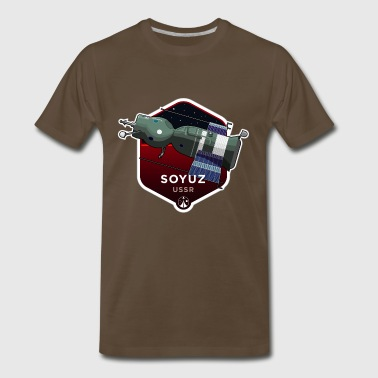 Space Race Series: SOYUZ (Large print) - Men's Premium T-Shirt