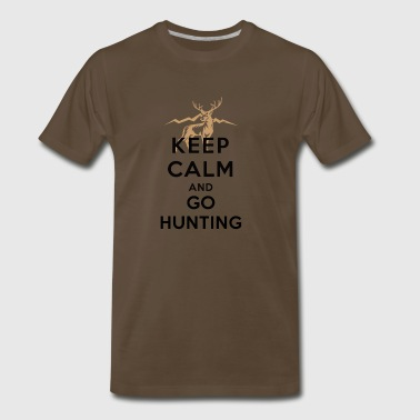 Keep calm and go Hunting - Men's Premium T-Shirt