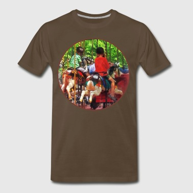 Carnivals - Friends on the Merry-Go-Round - Men's Premium T-Shirt