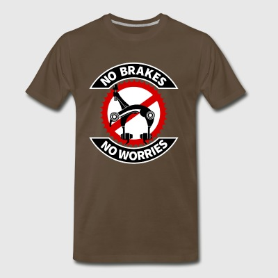 Fixie No Brakes - Men's Premium T-Shirt