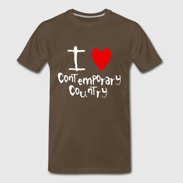 I love Contemporary Country - Men's Premium T-Shirt