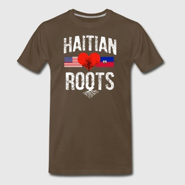 Haitian flag designs - Men's Premium T-Shirt