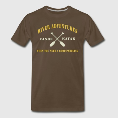 Canoe Kayak Paddling - Men's Premium T-Shirt