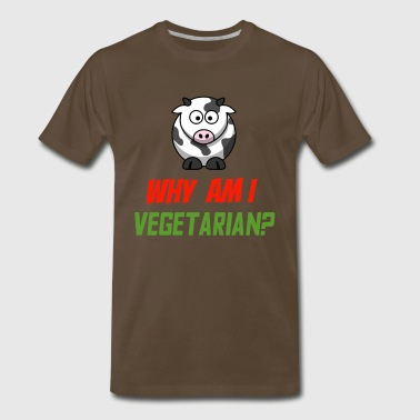 Vegetarian Cow - Men's Premium T-Shirt