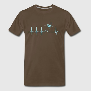 Heartbeat Freestyle Skiing Skier Cool Shirt Gift - Men's Premium T-Shirt