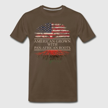 American grown with pan african roots - Men's Premium T-Shirt