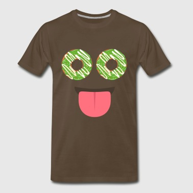 Donut Face Sweet Gift - Men's Premium T-Shirt