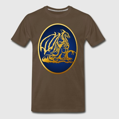 Framed Gold Dragon - Men's Premium T-Shirt