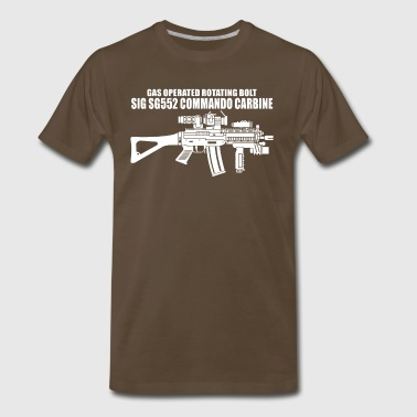 Gun SG552 Commando Carbine SWAT - Men's Premium T-Shirt