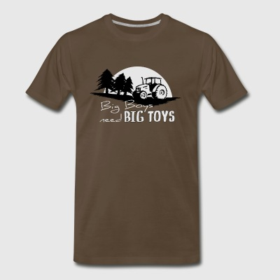 Tractor boys big toys farmer men play forester - Men's Premium T-Shirt