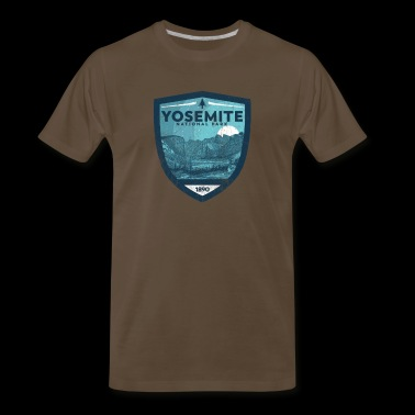 Yosemite National Park Vintage Night Skyy Badge Design - Men's Premium T-Shirt