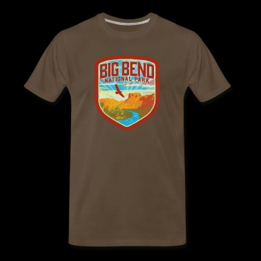 Big Bend National Park Retro Vintage Style Badge - Texas Nature & Outdoors - Men's Premium T-Shirt