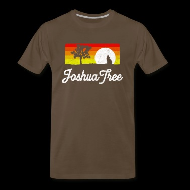 Joshua Tree National Park Coyote & Vintage Desert Sky Design - Men's Premium T-Shirt