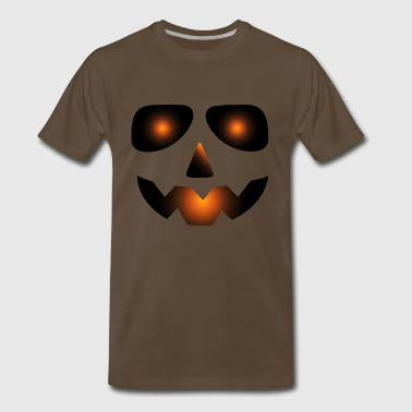 Halloween Scary Pumpkin Face - Men's Premium T-Shirt